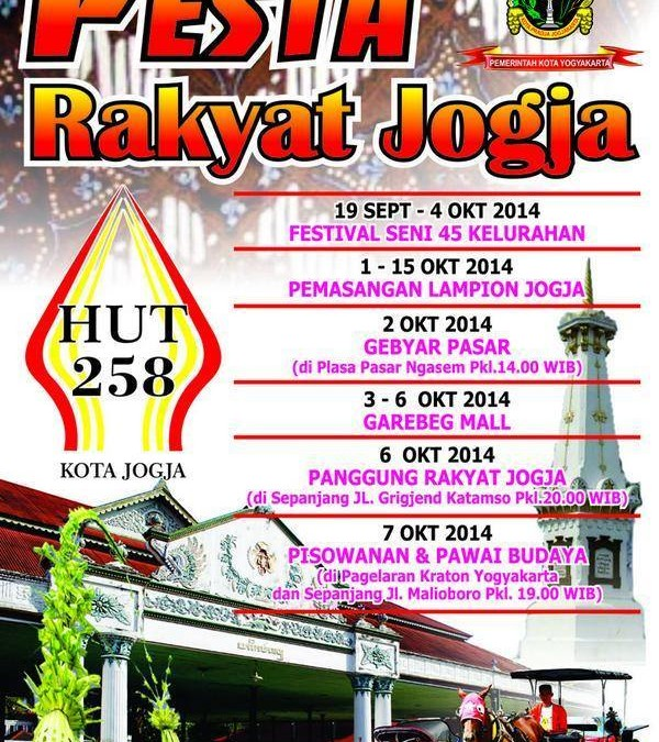 Pesta Rakyat Jogja Rangkaian Acara HUT ke-258 Kota Jogja