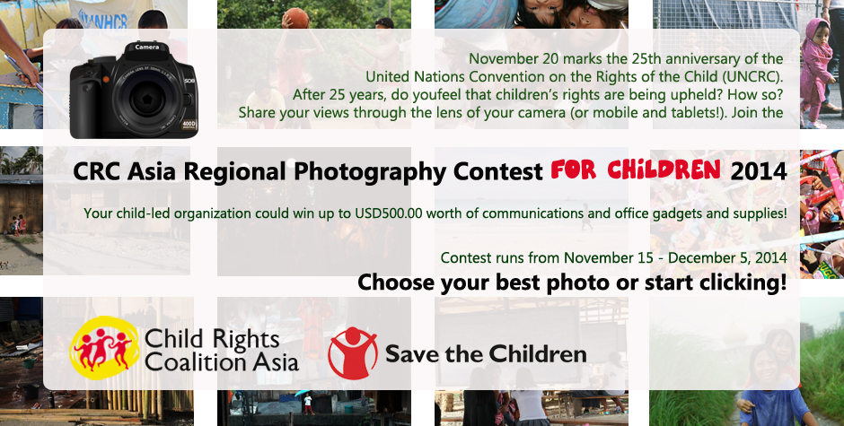 CRC Asia Regional Photography Contest for Kids (Deadline: 5 Desember 2014)