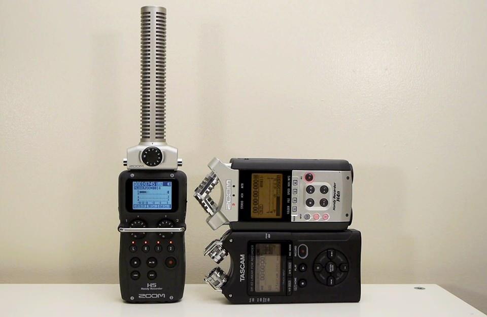 Audio Test: Zoom H5 vs Zoom H4n vs Tascam DR-40