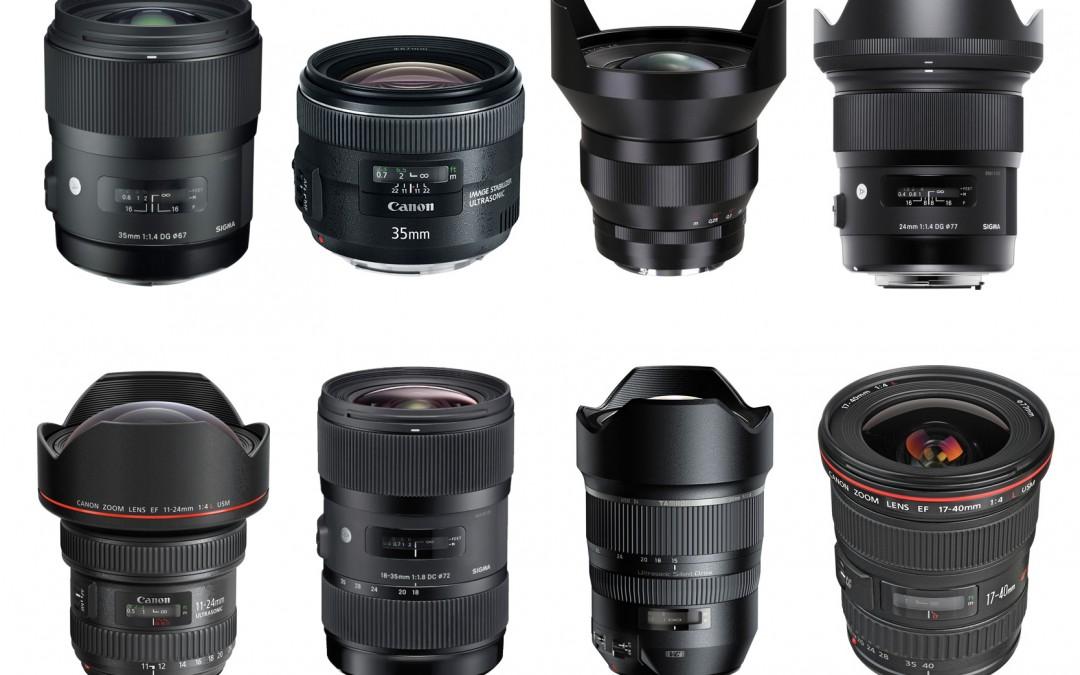 Jajaran Lensa Wide Angle Canon
