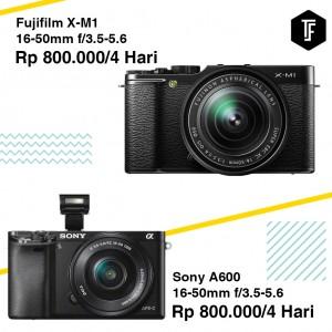 Sony A600 + Fujifilm X-A2 + X-M1 1